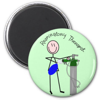Respiratory Therapist O2 & Ambu Bag Design 2 Inch Round Magnet
