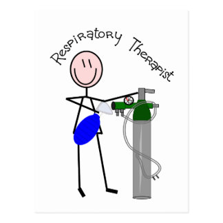 Respiratory Therapist O2 & Ambu Bag Design Postcard