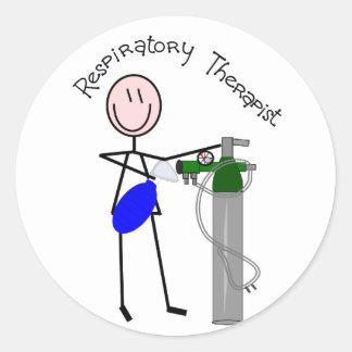 Respiratory Therapist O2 & Ambu Bag Design Round Sticker