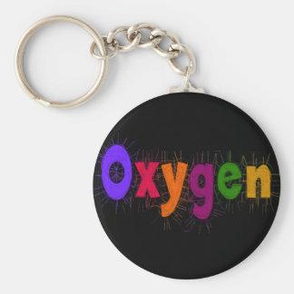 "Respiratory Therapist ""Oxygen"" T-Shirts & Gifts Basic Round Button Keychain"