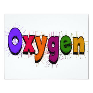 "Respiratory Therapist ""Oxygen"" T-Shirts & Gifts Personalized Invitation"