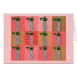 Respiratory Therapist Pink Popart Gifts Greeting Card