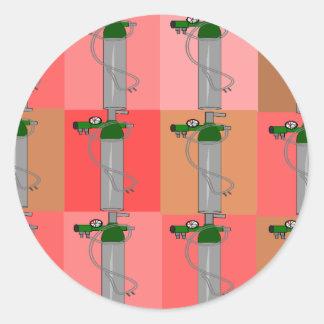Respiratory Therapist Pink Popart Gifts Round Sticker