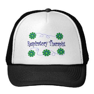 Respiratory Therapist Retro Flowers Design Mesh Hat