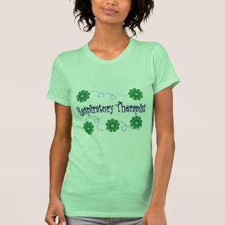 Respiratory Therapist Retro Flowers Design T-shirts