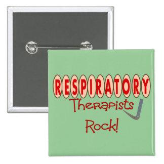 Respiratory Therapist ROCK 2 Inch Square Button