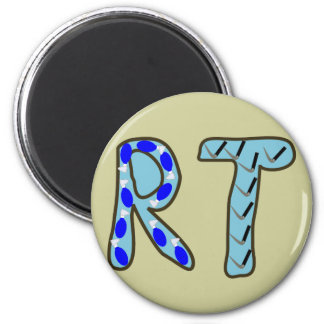 "Respiratory Therapist ""RT"" 2 Inch Round Magnet"