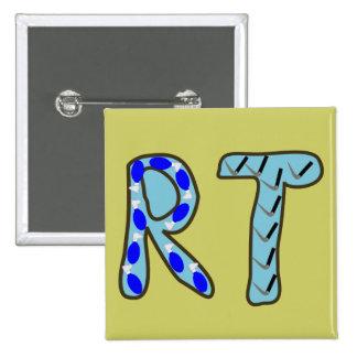 """Respiratory Therapist """"RT"""" 2 Inch Square Button"""
