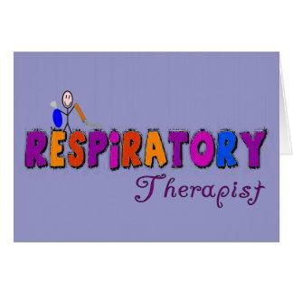 Respiratory Therapist Stickman Gifts Greeting Card