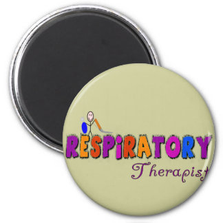 Respiratory Therapist Stickman Gifts 2 Inch Round Magnet