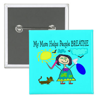 Respiratory Therapists Childrens Gifts 2 Inch Square Button
