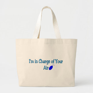 """Respiratory Therapy Gifts """"In charge of your air"""" Jumbo Tote Bag"""