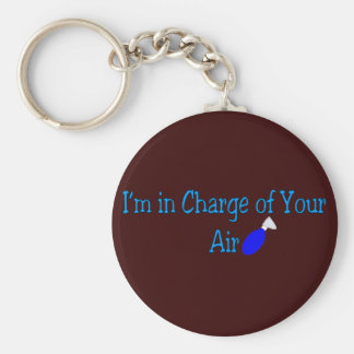 """Respiratory Therapy Gifts """"In charge of your air"""" Key Chain"""