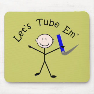 Respiratory Therapy Stick Person Let s Tube Em Mouse Pad