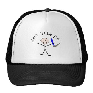 """Respiratory Therapy Stick Person """"Let's Tube Em"""" Trucker Hat"""