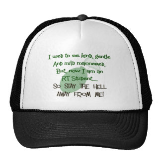 Respiratory Therapy Student Hilarious Gifts Mesh Hat