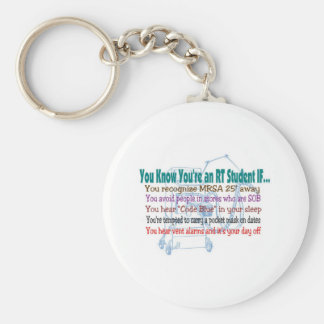Respiratory Therapy Student Basic Round Button Keychain