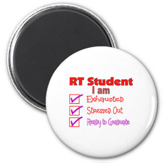 Respiratory Therapy Student--Stressed Out! 2 Inch Round Magnet