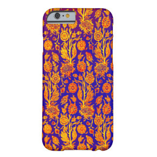 Resplendent Floral Red Blue Pattern iPhone Case