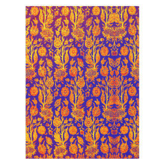 Resplendent Floral Red Blue Pattern Table Cloth