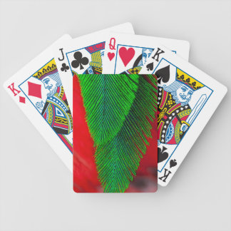 Resplendent Quetzal Feather Abstract Bicycle Playing Cards
