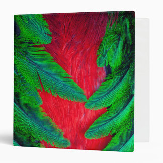 Resplendent Quetzal feather design Vinyl Binders