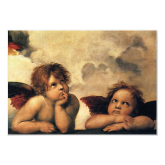 Response Card; Sistine Madonna Angels by Raphael Card