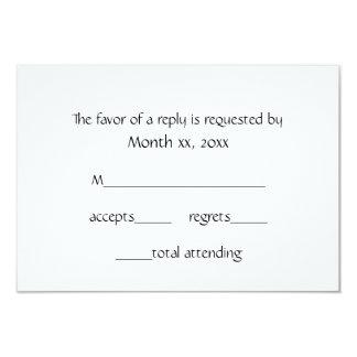 Response Cards Winter White for Weddings