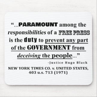 Responsibilities of a FREE PRESS Case Law Mouse Pad