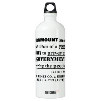 Responsibilities of a FREE PRESS Case Law Water Bottle