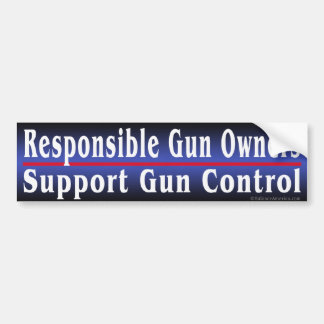Responsible Gun Owners Bumper Sticker