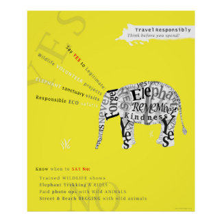 Responsible Tourism Elephant Conservation Poster