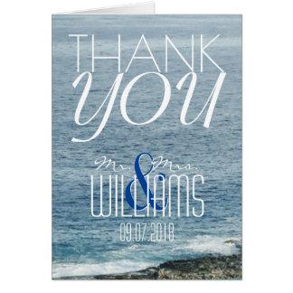 Ressacs de carte de remerciements de mariage de
