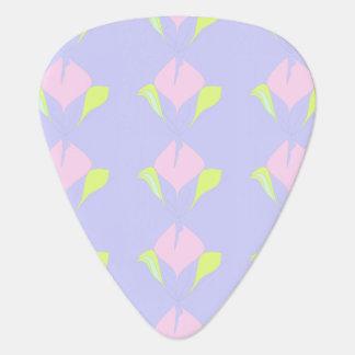 Ressort - motif floral vert rose violet onglet de guitare