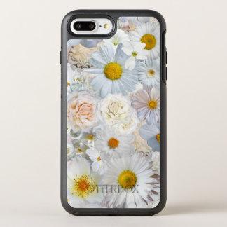 Ressort nuptiale de mariage floral de bouquet de coque otterbox symmetry pour iPhone 7 plus