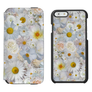 Ressort nuptiale de mariage floral de bouquet de coque-portefeuille iPhone 6 incipio watson™