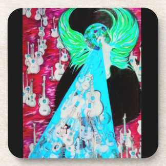 Ressurrection Temple Of Guitars Pink Coaster