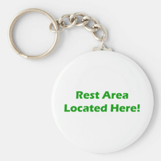 Rest Area Located Here Basic Round Button Keychain