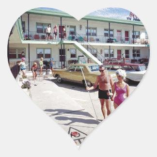 Rest Cove Motel in the 1960's Heart Sticker