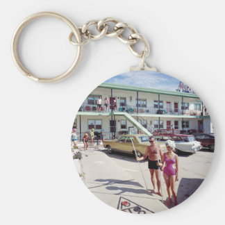 Rest Cove Motel in the 1960's Keychain