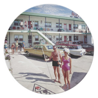 Rest Cove Motel in the 1960's Plate