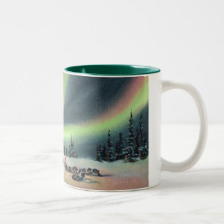 REST for the MUSHERS by SHARON SHARPE Two-Tone Coffee Mug