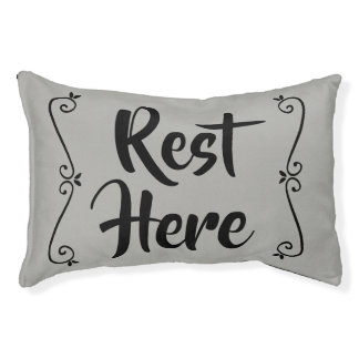 Rest Here Pet Bed (Grey with Black)
