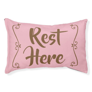 Rest Here Pet Bed (Pink)