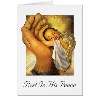 Rest In His Peace Card