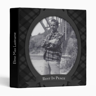rest in peace funeral guest book 3 ring binder