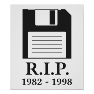 Rest in Peace RIP Floppy Disk Poster
