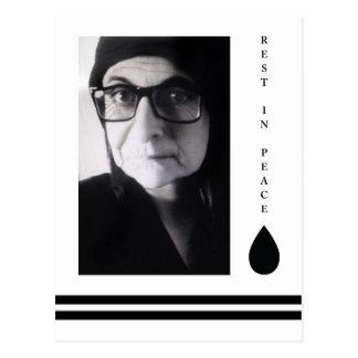 rest in peace tear drop postcard