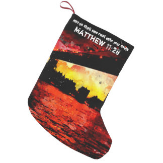 Rest Matthew 11 28-30 Small Christmas Stocking
