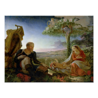 Rest on the Flight into Egypt, 1805-6 Poster